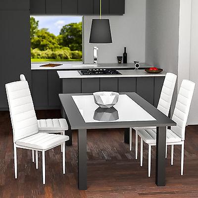 6x Chaise de salle à manger ensemble salon design chaises cuisine neuf blanc 2