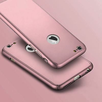 Hybrid 360° Shockproof Case Tempered Glass Cover For Apple iPhone 10 X 8 7 6s 5 9