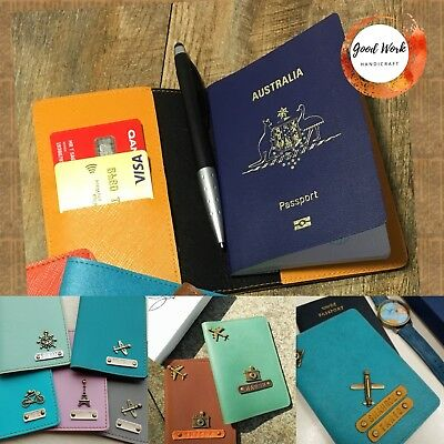 Personalised Leather Passport Cover Holder With Free Tag Name And Charm 10