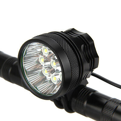 Super Bright 50000LM 9x T6 LED Bike Bicycle MTB Head Light Headlamp+Rear Light 5