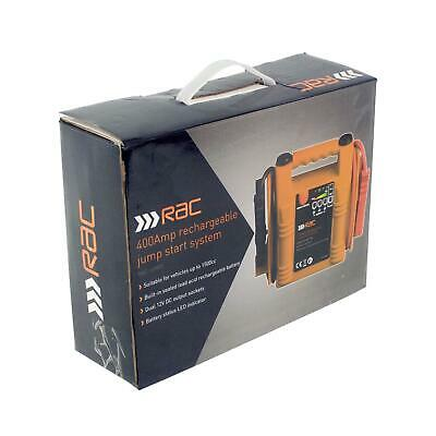 Heavy Duty Rac 12V 400A Car Van Jump Starter Battery Booster Charger Leads Cable 2