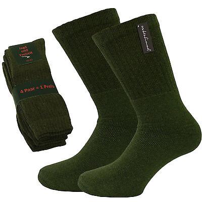 8 Paar Herren Jagd- und Sport- Socken mit Frotteefuß - Jägersocken - Army-Socken