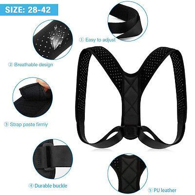 Adjustable Back Posture Corrector Clavicle Spine Shoulder Lumbar Brace Support 3