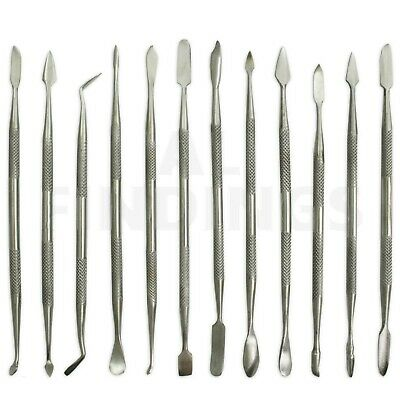 12 stainless steel Wax carvers or clay carving tool soap hobbies spatulas tool 3