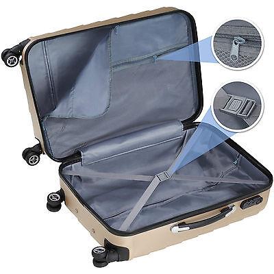 Set 3 piezas maletas ABS juego de maletas de viaje trolley maleta dura champán 3