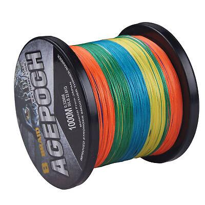 Black 100M//300M//500M//1000M 100/% PE Dyneema Agepoch Braided Fishing Line Kite