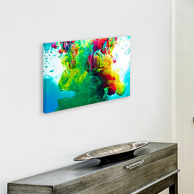 ZAB352 Colourful Cool Funky Modern Canvas Abstract Home Wall Art Picture Prints 4