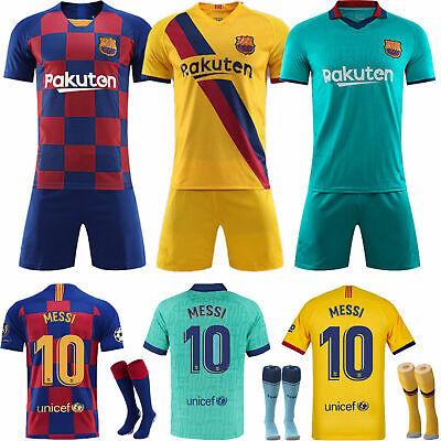 NEW 19/20 Soccer 3-14 Years Football Short Sleeve Kids Boys Jersey Kit & Socks 2