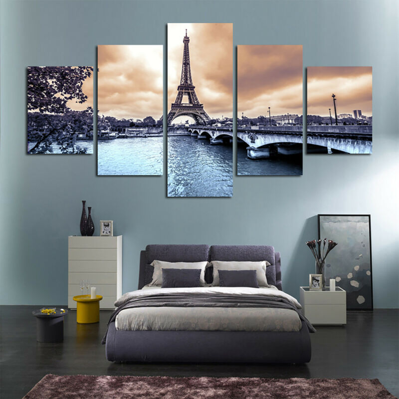 5 Panels Unframed Modern Canvas Art Oil Painting Picture Room Wall Hanging Decor 9