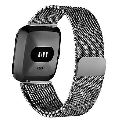 For Fitbit Versa Milanese Watch Band Strap Wrist Magnetic Stainless Steel Loop 7