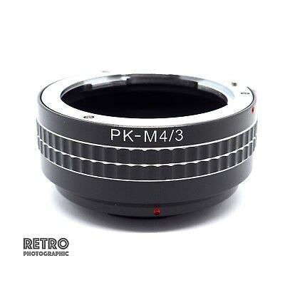 PK-M4//3 Pentax PK Lens to M4//3 M43 Micro Four Thirds Adapter Ring UK Stock