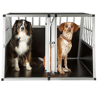 XXL Cage box caisse trapézoïdal de transport voyage pour chien mobile aluminium 2
