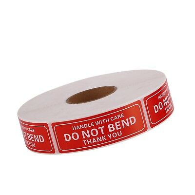 1 Roll 1 x 3 DO NOT BEND HANDLE WITH CARE Stickers Labels Easy Peel 1000/roll