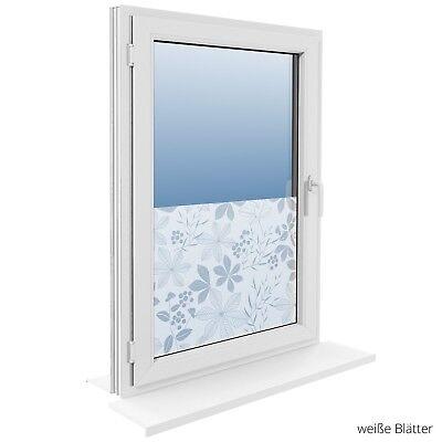 90 cm Fensterfolie Statische Sichtschutzfolie Milchglasfolie Glasdekorfolie 6