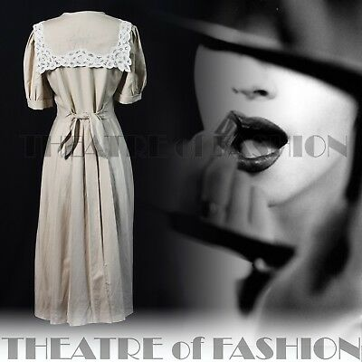 DRESS  LACE 40s 30s WEDDING VINTAGE LAURA ASHLEY 14 16 GATSBY VICTORIAN 50s VAMP 5