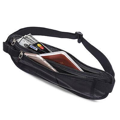 Slim Design Bumbag RFID Running Belt Water-proof Adjustable Waist Bag Travelling 7