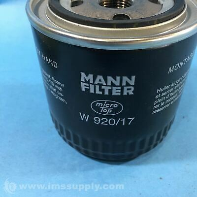 Mann Filter W 920/17 Spin-On Oil Filter Fnob 3