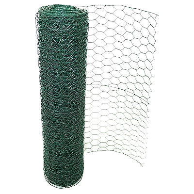 PVC Coated Chicken Wire Rabbit Mesh Green Fencing Aviary Fence 25M 50M 3 widths 2