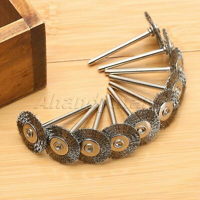 10Pcs Stainless Steel Wire Wheel Brushes Die Grinder Power Rotary Tool Wholesale 6
