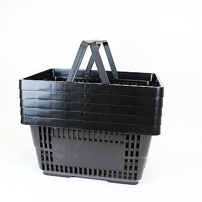 Black Plastic Shopping Basket x 5 2