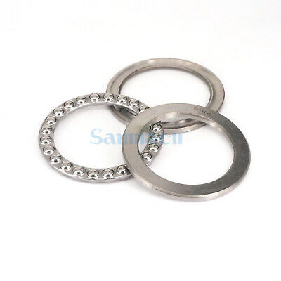 51114 70 x 95 x 18mm Axial Ball Thrust Bearing (2 Steel Races + 1 Cage) ABEC-1 6