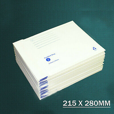 Bubble Padded White Mailer Envelope Bag 100x180 160x230 215x280 Printed #01 #02 5