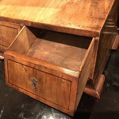 George 1st Ladys Walnut Dressing Mirror With Draws Stand 5