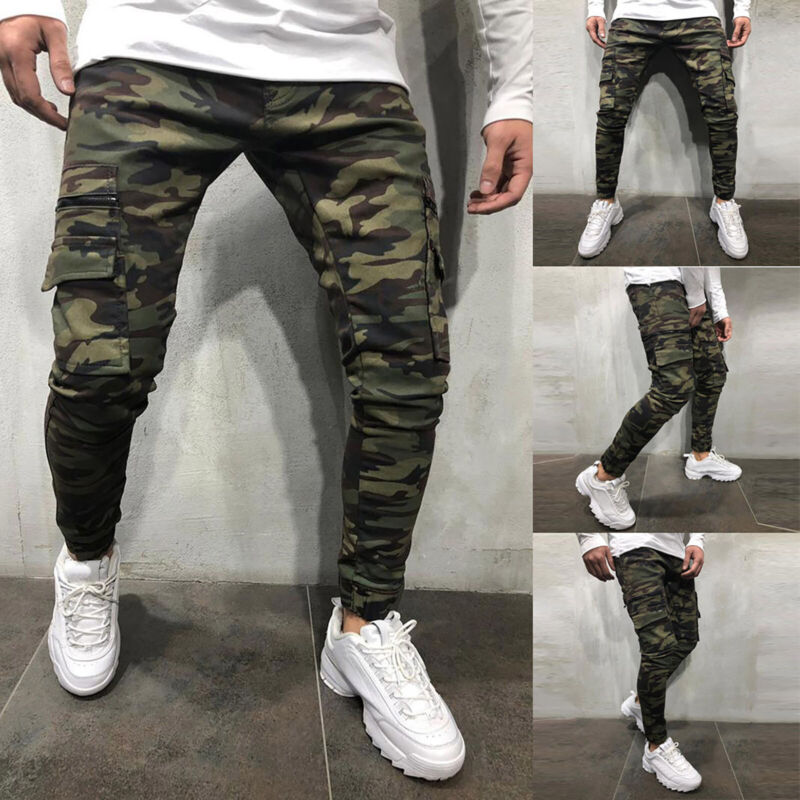 Mens Boys Stretch Skinny Ripped Jeans Biker Frayed Denim Leisure Tight Trousers 8