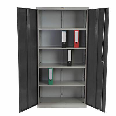 Aktenschrank Valberg H330 2 Türen 84x92x37cm rot Metallschrank Büroschrank