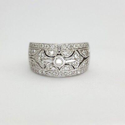 Ladies Ring 18ct (750, 18K) White Gold (0.55ct) Natural Diamond Dress Ring 4