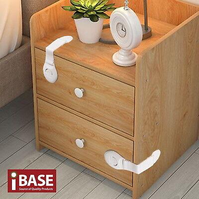 16x Child Adhesive Kid Baby Safety Drawer Door Lock Cupboard Cabinet Belt White 2