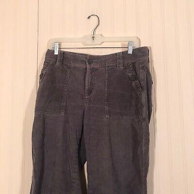 COLUMBIA Women's Sz 10 Grey Corduroy Pants 2