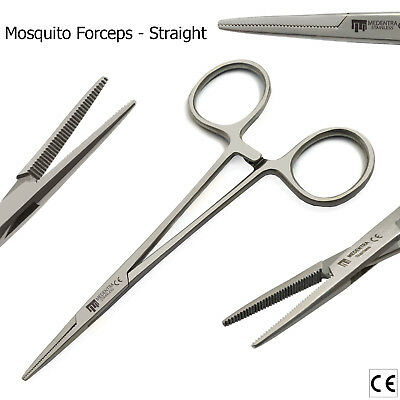 Rabbits Rodents Micro Surgery Needle Holder Mosquito Haemostat Forceps Scissors 3