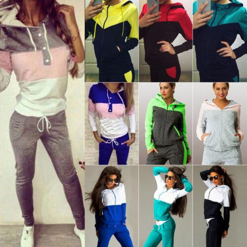 d4acf1f4f02 2Pcs Women's Tracksuit Hoodie Sweatshirt Tops Pants Set Casual Sports Sweat  Suit 7 7 of 12 ...