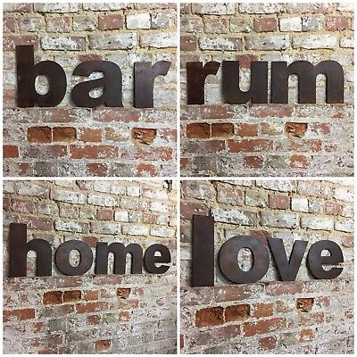 z LOWER CASE RUSTY METAL LETTERS SHOP HOME VINTAGE WORD RUSTIC INDUSTRIAL SIGN 7