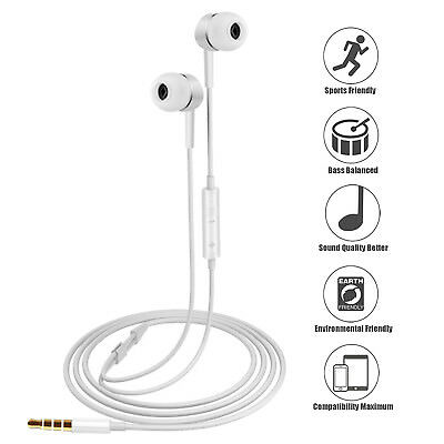 Gold Earbuds Headphones with Mic and Remote for iPhone 6s 6 6Plus 5s 5c 4s iPod 2