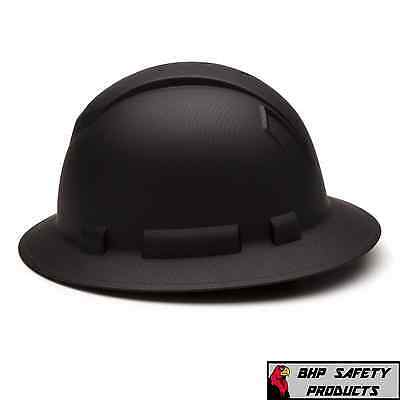 Pyramex Ridgeline Hard Hat Graphite Pattern Black Gray Full Brim Safety Hp54117 3
