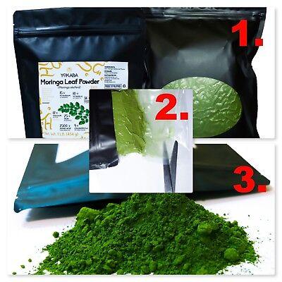 Moringa Oleifera Leaf Powder 1 lb ( 16oz ) - Organic, Natural 100% Pure , YOKABA 8