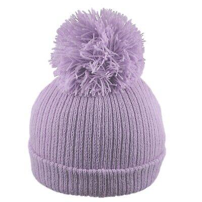 Baby Pom Pom Hat Bobble Beanie Double Knitted Boy Girl Infant Newborn-12 Months 6