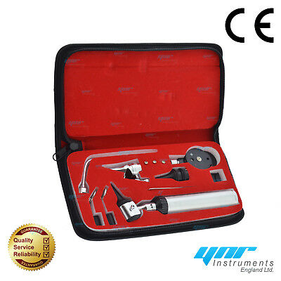 YNR Otoscope Ophthalmoscope Opthalmoscope Nasal Larynx ENT Diagnostic Set CE NEW 7