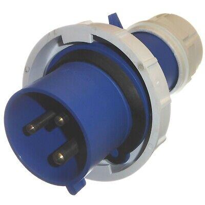 32A 3 Pin Plug 230V Waterproof IP67 Fast-Fit blue 2P+E 32A Caravan Marina 5