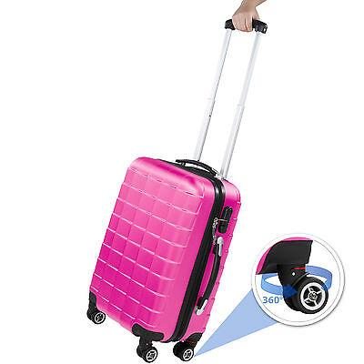 Set 3 piezas maletas ABS juego de maletas de viaje trolley maleta dura rosa 2
