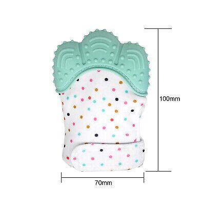 Silicone Baby Teether Teething Mitten Mitt Glove Safe BPA Free Chew Dummy Toy 5