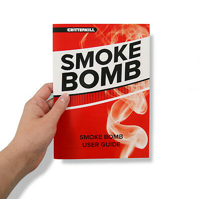 Bed Bug Killer Treatment PRO Smoke Fumer Home Pest Fogger CritterKill Smoker TIN 2