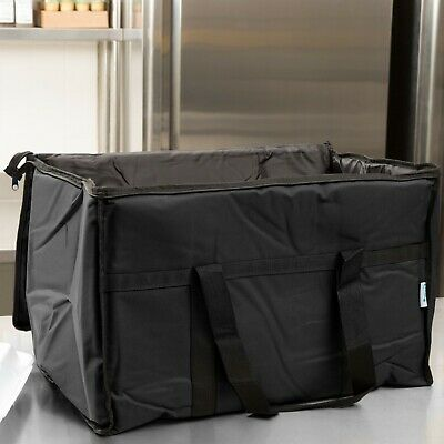 TWO Insulated BLACK Catering Delivery Food Full Pan Carrier Hot Cold Cooler Bag 4