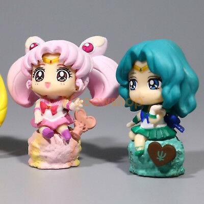 6pcs//Set Petit Chara Land Sailor Moon Ice Cream Party PVC Figure Cute Gifts