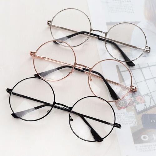 4b506699c5 Women Men Large Oversized Metal Frame Clear Lens Round Circle Eye Glasses  Nerd 2 2 of 10 ...