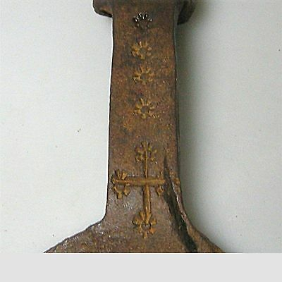 Antike punzierte Forke Gabel Mistgabel Stielwerkzeug ca. 200 Jahre alt 3