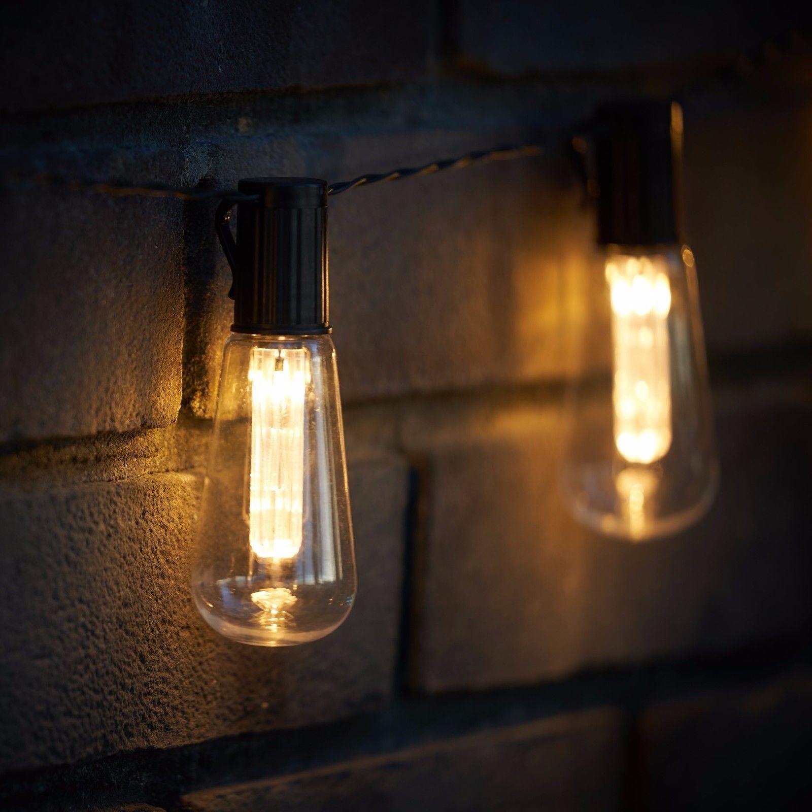 sale retailer 017b2 e62f3 LED SOLAR POWERED Vintage Edison Bulb String Lights Garden Outdoor Summer  Party
