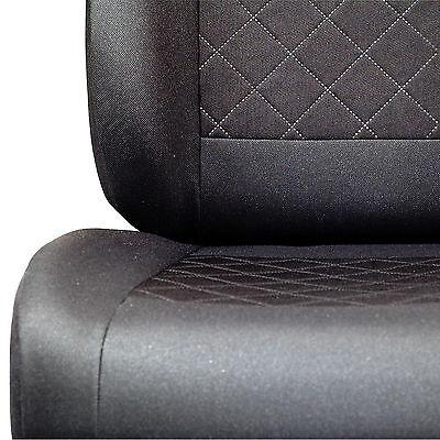 Graue Dreiecke Sitzbezüge für SUZUKI VITARA Autositzbezug NUR FAHRERSITZ